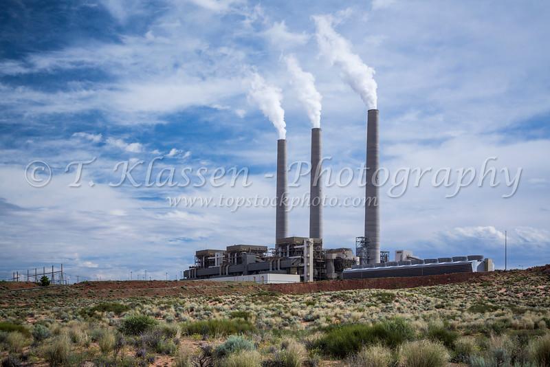 A coal fired Navajo generating station near Page, Arizona, USA.