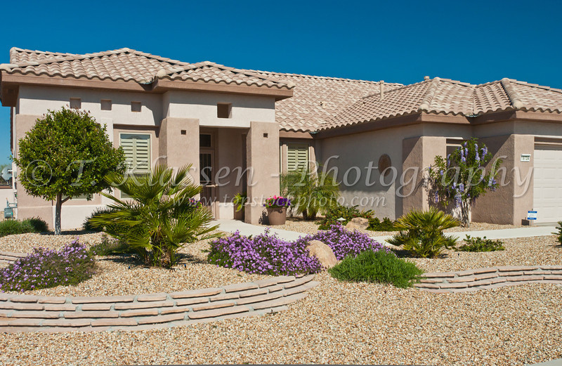 Condominium homes at the Sun City Grand in Surprise, Arizona, USA.