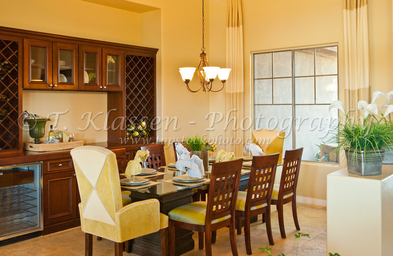 Interior of the model homes for sale at the Sun City Grand retirement community in Surprise, Arizona.