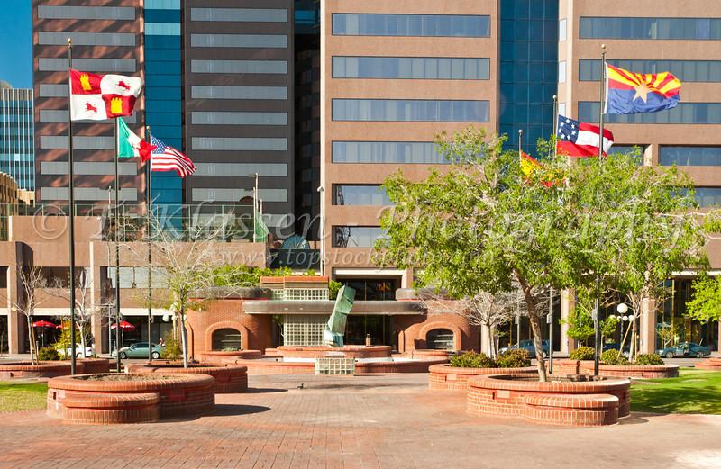 Copper Plaza in downtown Phoenix, Arizona, USA.