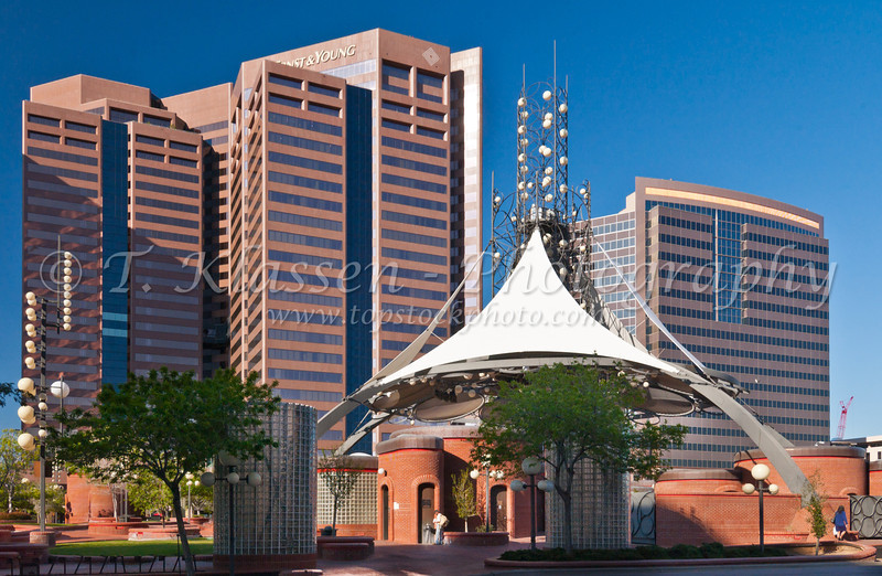 Copper Plaza in downtown Phoenix, Arizona, USA.