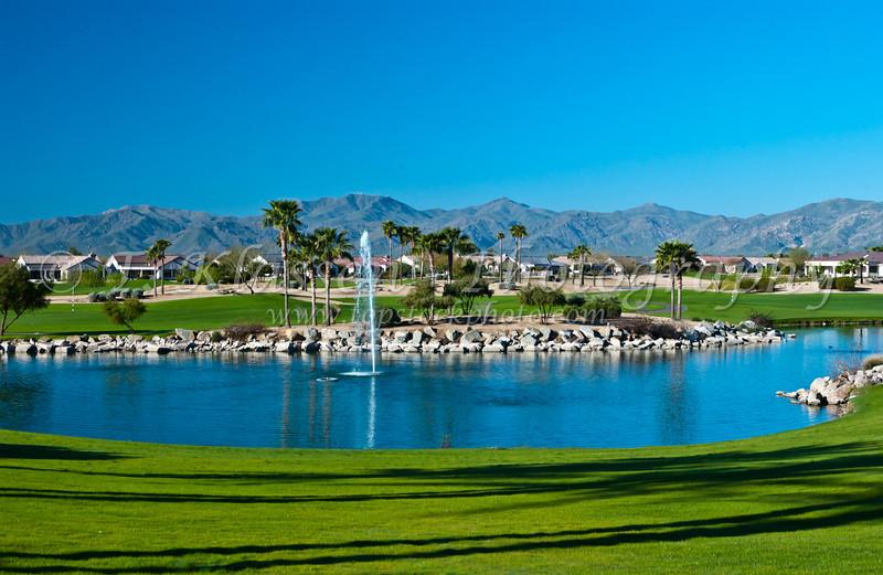 Views of the Sun City Grand retirement community in Surprise, Arizona, USA.