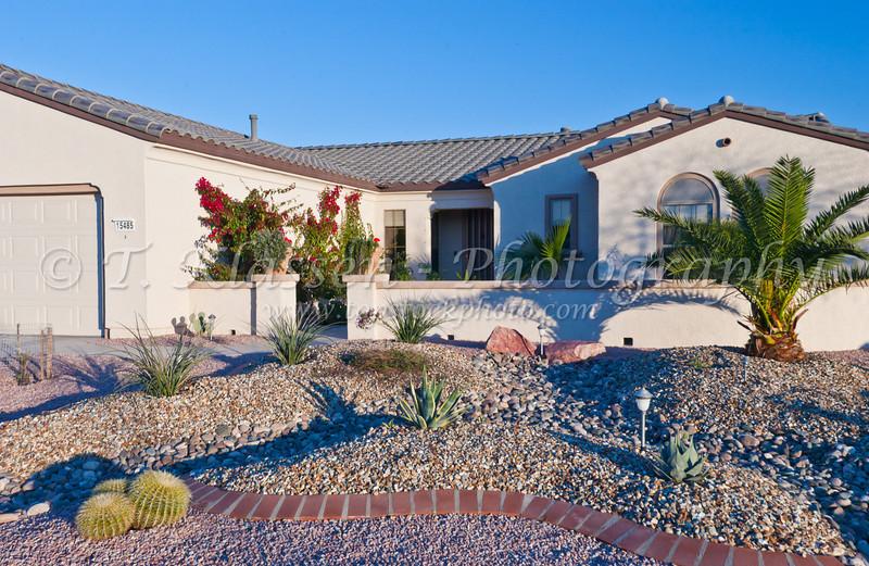 Condominium homes at the Sun City Grand in Surprise, Arizona, USA.