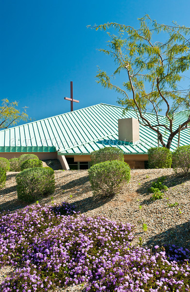 Spirit of Grace Luthern Church in Sun City Grand in Surprise, Arizona, USA.