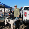 Steve from San Juan Capistrano and his three greyhounds and one whippet.