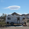 Flying saucer cloud over Sage's Casita.