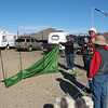 Had a vendor come out to show us his product, WallUp, a shelter from the wind. He sold about 14 of them.