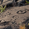 Big Island Hawaii<br /> Pictures carved in volcanic rock at Volcano National Park