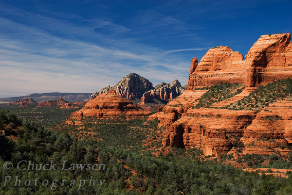 Sedona, AZ/Oct. View of Sedona's red buttes as seen looking West from Schnebly Hill.