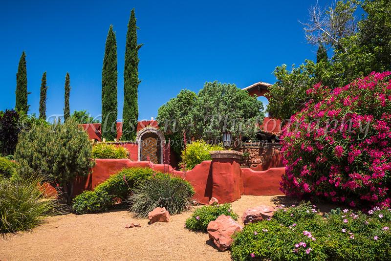 Flowers and decorative vegetation in Sedona, Arizona, USA.