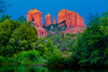 Cathedral Rocks in  the red rock country near Sedona, Arizona, USA.