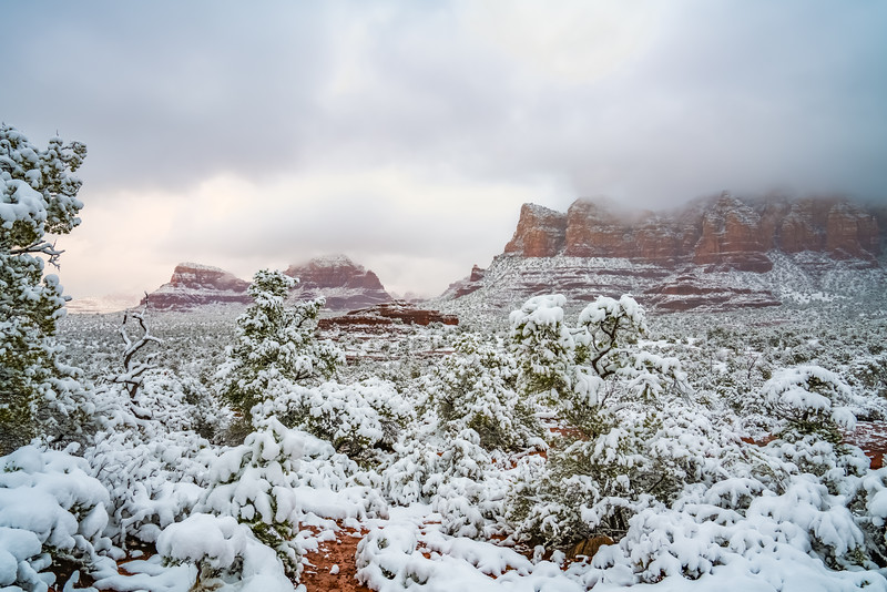 Beautiful Snowy Sedona