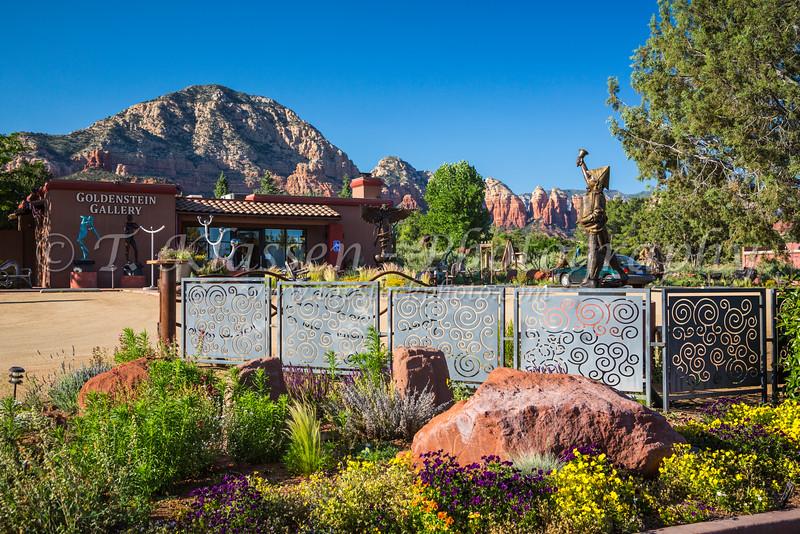 The Goldenstein Sculpture Gallery In Sedona, Arizona, USA.
