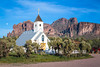 The Elvis Memorial Chapel on the Apache Trail near the Superstition Mountains, Arizona, USA.