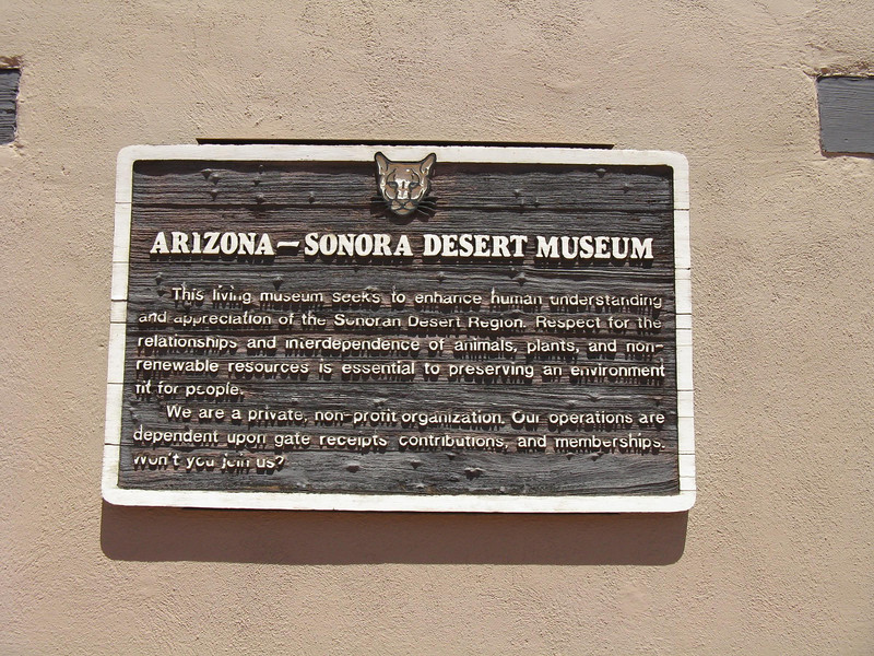 "Arizona-Sonora Desert Museum. A definite ""must-see"" when you're in the Tucson area."