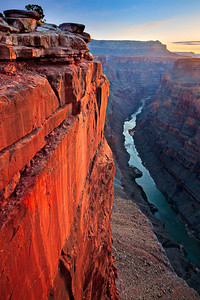 Sunrise on the Colorado River from Toroweap Point Grand Canyon, Arizona