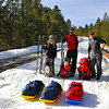 The ski trek begins on AZ Highway 67 just south of Jacob Lake. The highway is closed to all traffic once the first snow covers the highway usually in November and remains closed until  May.