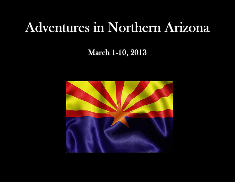 Northern Arizona 2013 - Title Page