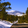 Mount Humphries and the San Francisco Peaks west of Sunset Crater.