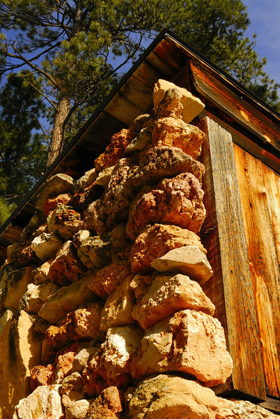 An old structure from  a pioneer Mormon ranch in Jacob Lake.
