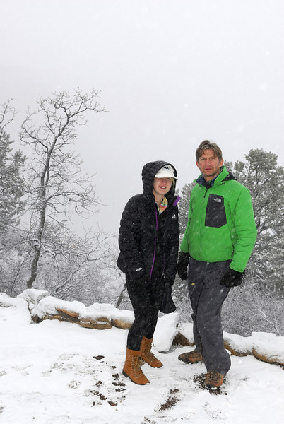 Heavy snow at the South Rim.
