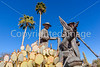 Mormon Battalion sculpture at Tucson's Presidio, AZ - C2-0075 - 72 ppi