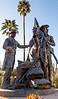 Mormon Battalion sculpture at Tucson's Presidio, AZ - C2-0011 - 72 ppi