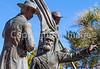 Mormon Battalion sculpture at Tucson's Presidio, AZ - C1 -0058 - 72 ppi