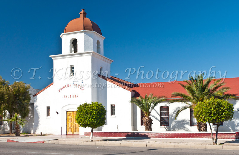 A church, Primera Iglesia Bautista in Tucson, Arizona, USA.
