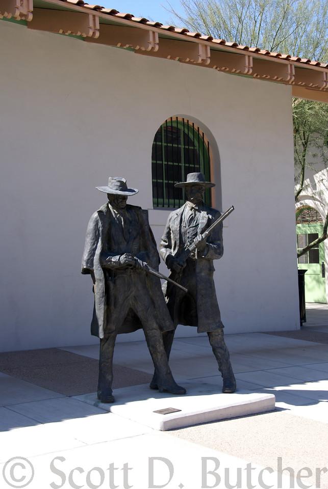 Wyatt Earp & Doc Holliday Statue, Historic Tucson Train Depot
