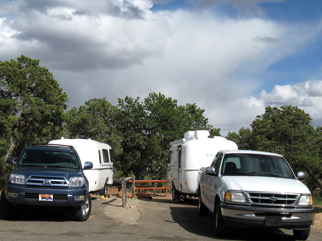 Our Gemini campsites, the only ones in the campground