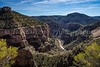 A scenic canyon in the White Mountians of eastern Arizona, USA.
