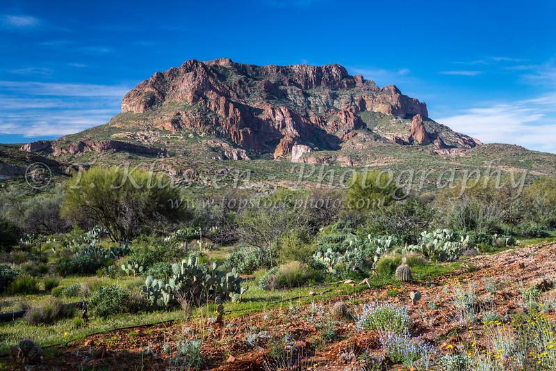 Picketpost Mountain near Superior, Arizona, USA.
