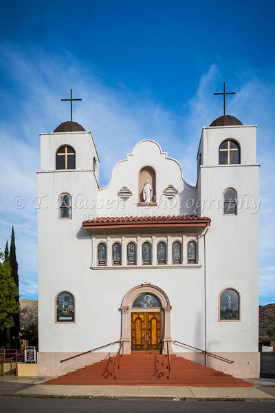 The Our Lady of the Blessed Sacrament Catholic Church in MIami, Arizona, USA.