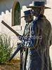 Wyatt Earp & Doc Holliday statue at train station in Tucson, AZ - C3-0119 - 72 ppi