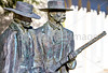 Wyatt Earp & Doc Holliday statue at train station in Tucson, AZ - C1 -0026 - 72 ppi