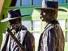 Wyatt Earp & Doc Holliday statue at train station in Tucson, AZ - C1 -0021 - 72 ppi