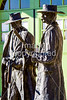 Wyatt Earp & Doc Holliday statue at train station in Tucson, AZ - C1 -0020 - 72 ppi
