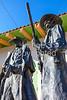 Wyatt Earp & Doc Holliday statue at train station in Tucson, AZ - C2-0051 - 72 ppi