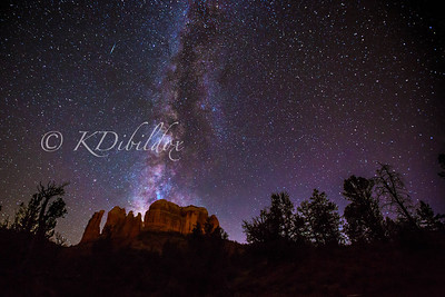 Milky Way and a couple of meteors