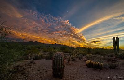 Explosive Desert Sunset