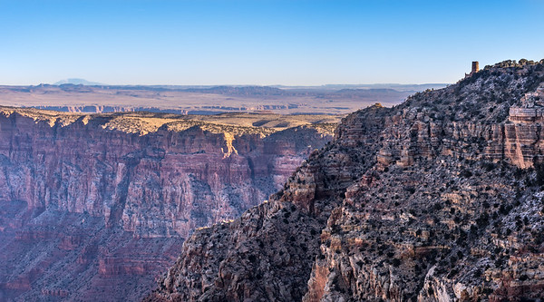 View overlooking a portion of the Grand Canyon from the South Rim
