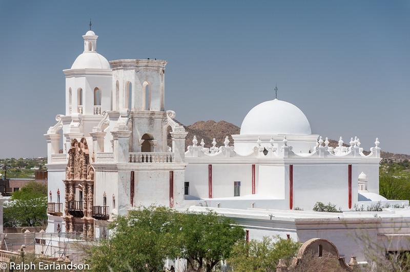 The San Xavier Mission near Tucson.
