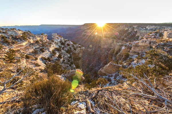 Early morning along the South Rim of The Grand Canyon