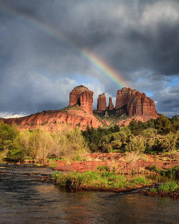 Rainbow over Cathedral Rock