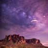 Milky Way over Superstition Mountains