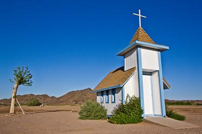Small church in the desert