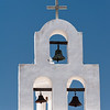 A bell tower at the San Xavier Mission near Tucson.