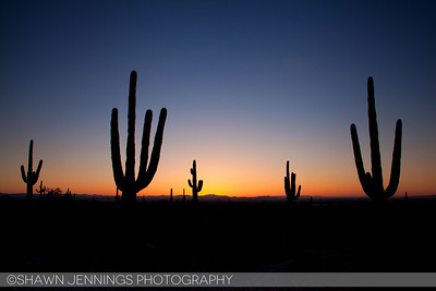 Sunrise from the White Tank Mountains in the Phoenix area.