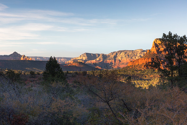 Sedona Shadows and Golden Light